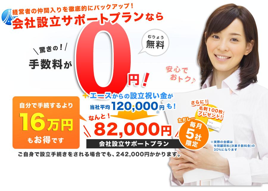 会社設立が通常手続きの約40%OFF!!16万円もお得!